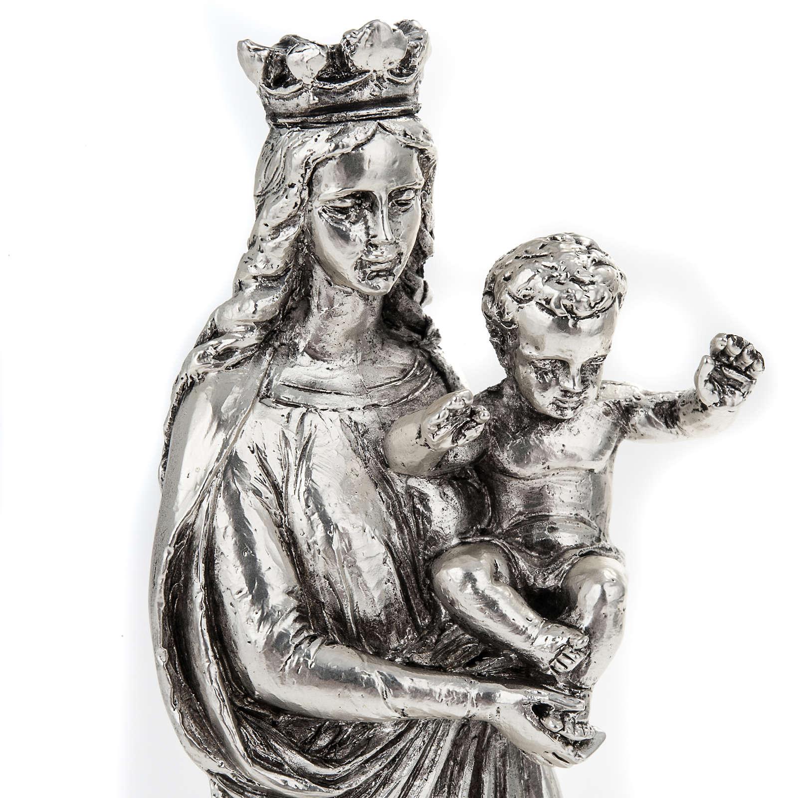 Notre Dame de la Garde in metal-coloured resin 16cm 4