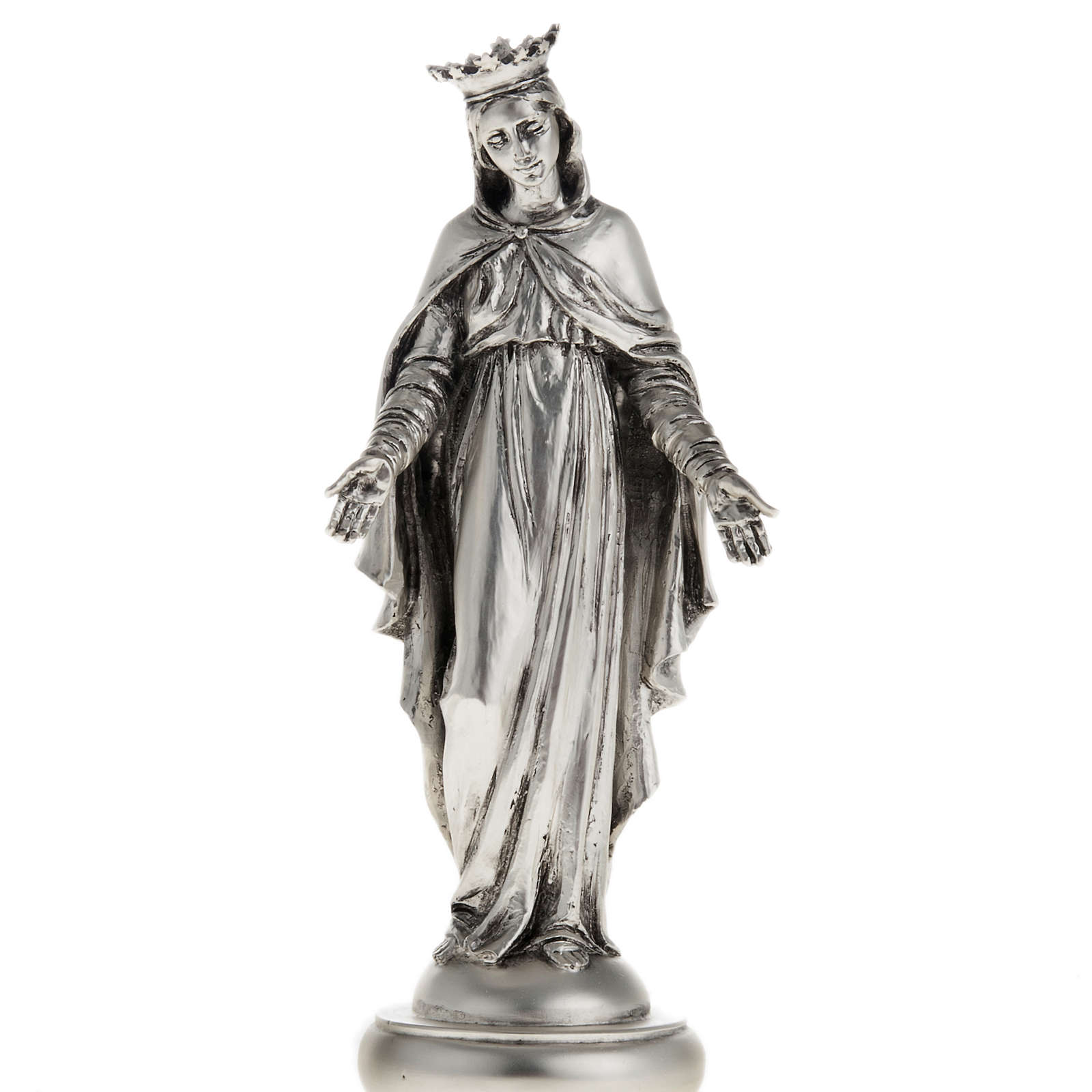 Notre Dame du Liban in metal-coloured resin 16cm 4
