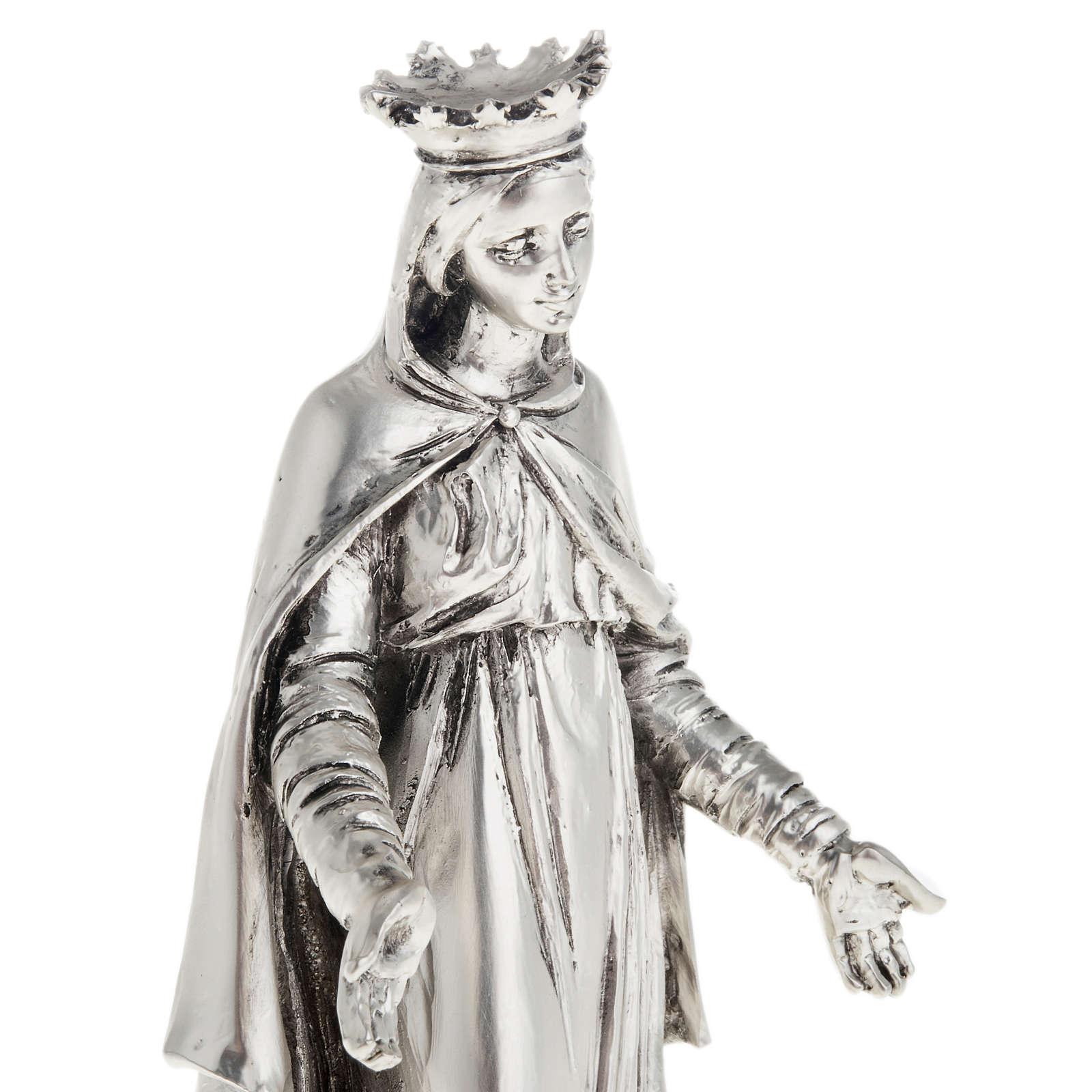 Notre Dame du Liban in metal-coloured resin 16cm 4