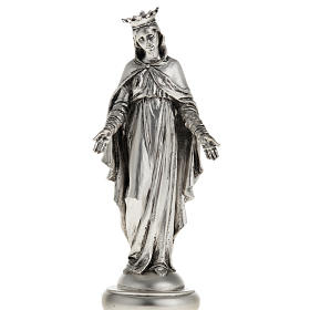 Resin & PVC statues: Notre Dame du Liban in metal-coloured resin 16cm