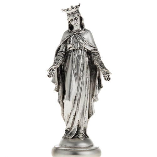 Notre Dame du Liban in metal-coloured resin 16cm 1