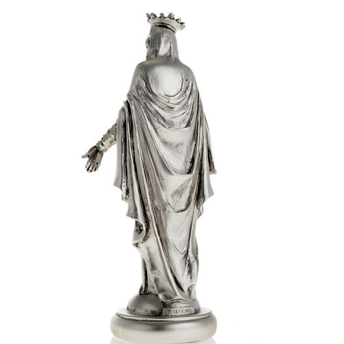 Notre Dame du Liban in metal-coloured resin 16cm 3