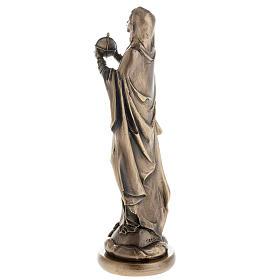 Madonna statua resina color metallo bronzato 16 cm s4