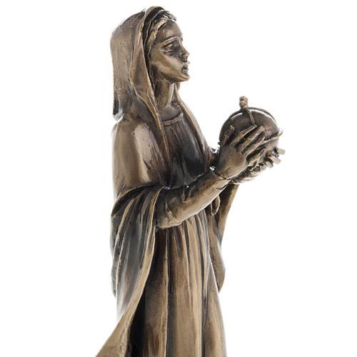 Madonna statua resina color metallo bronzato 16 cm 2