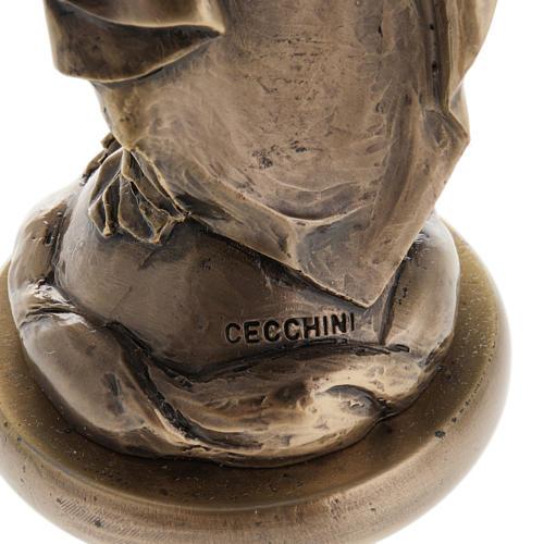 Madonna statua resina color metallo bronzato 16 cm 5