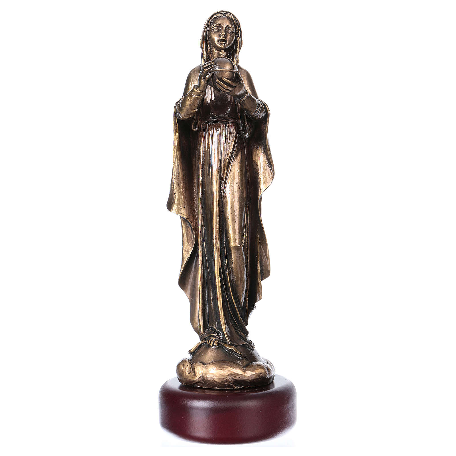 Our Lady in bronzed metal 16cm 4