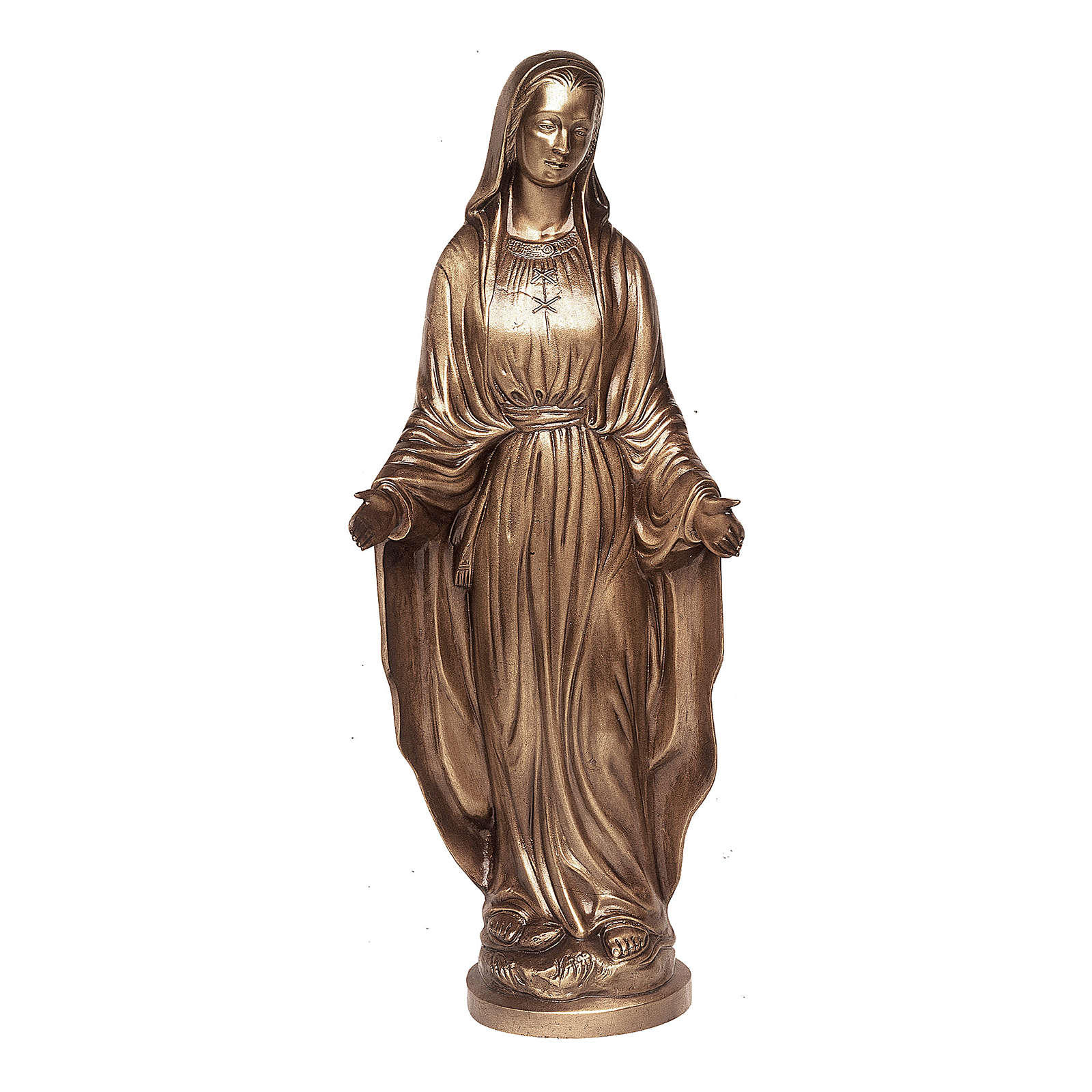 Statue of Mother Mary of Miracles in bronze 85 cm for EXTERNAL USE 4