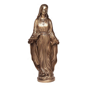 Statue of Mother Mary of Miracles in bronze 85 cm for EXTERNAL USE s1