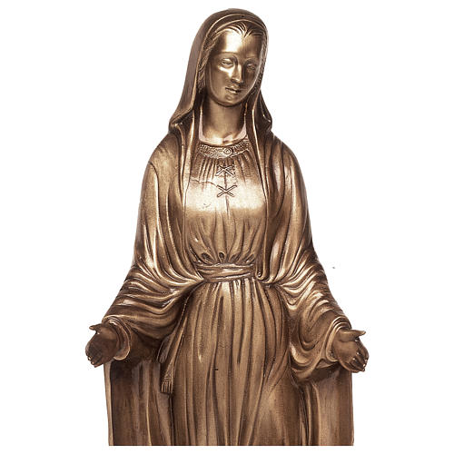 Statue of Mother Mary of Miracles in bronze 85 cm for EXTERNAL USE 2