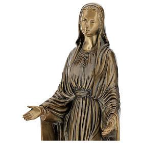 Statua Madonna Miracolosa bronzo 85 cm per ESTERNO s4