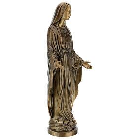 Statua Madonna Miracolosa bronzo 85 cm per ESTERNO s5