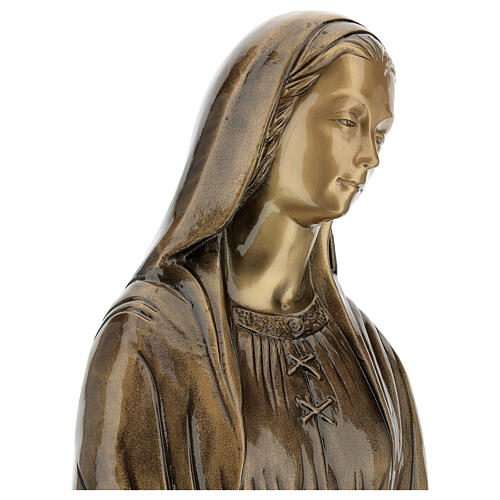 Statua Madonna Miracolosa bronzo 85 cm per ESTERNO 2