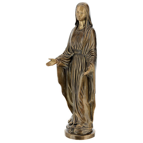 Statua Madonna Miracolosa bronzo 85 cm per ESTERNO 3