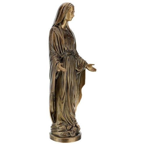 Statua Madonna Miracolosa bronzo 85 cm per ESTERNO 5