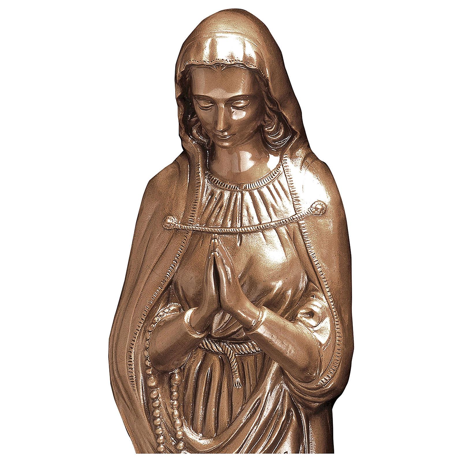 Statue Sainte Vierge bronze 85 cm POUR EXTÉRIEUR 4