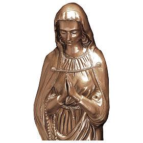 Statue Sainte Vierge bronze 85 cm POUR EXTÉRIEUR s2
