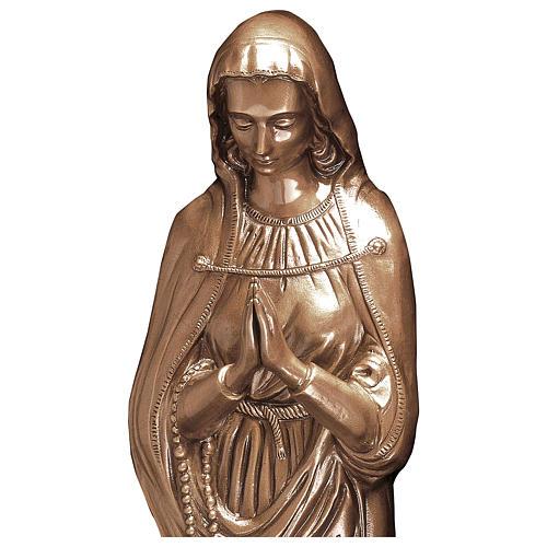 Statue Sainte Vierge bronze 85 cm POUR EXTÉRIEUR 2