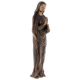 Statua Vergine Maria bronzo 85 cm per ESTERNO s4