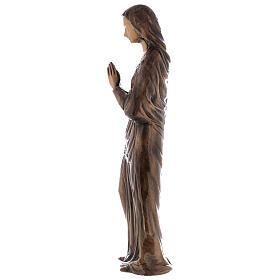 Statua Vergine Maria bronzo 85 cm per ESTERNO s5