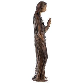 Statua Vergine Maria bronzo 85 cm per ESTERNO s6