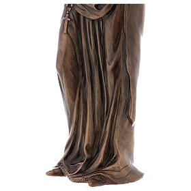 Statua Vergine Maria bronzo 85 cm per ESTERNO s7