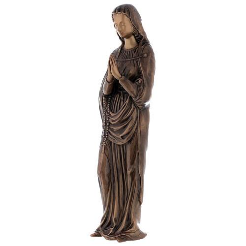 Statua Vergine Maria bronzo 85 cm per ESTERNO 3