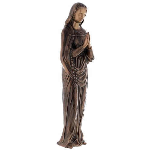Statua Vergine Maria bronzo 85 cm per ESTERNO 4