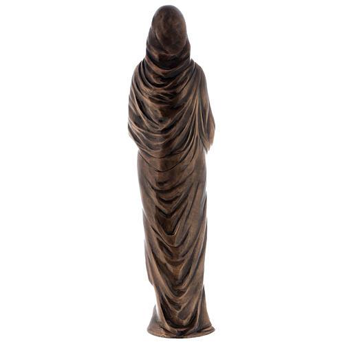 Statua Vergine Maria bronzo 85 cm per ESTERNO 8