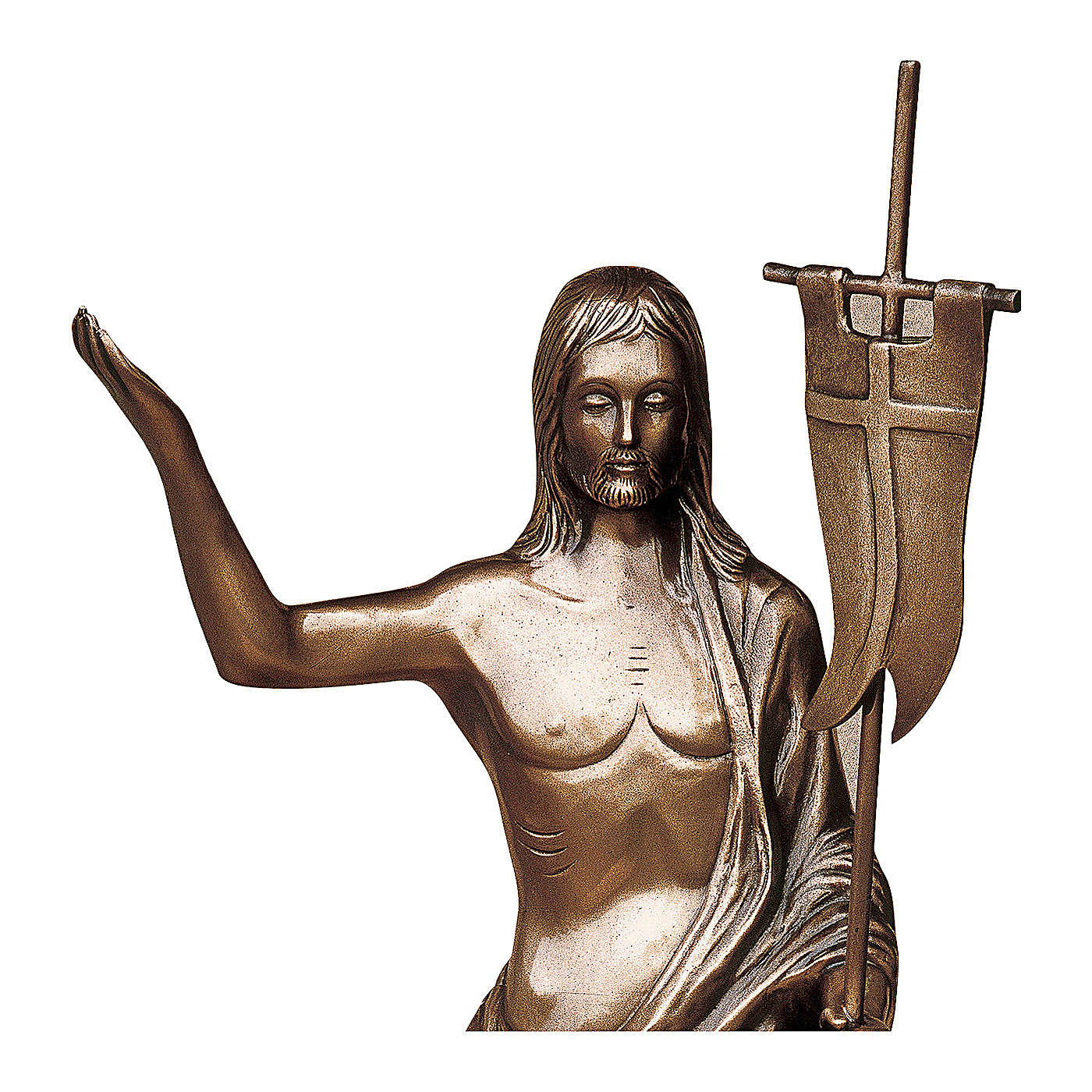 Statue of Risen Christ in bronze 85 cm for EXTERNAL USE 4
