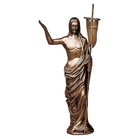 Statue of Risen Christ in bronze 85 cm for EXTERNAL USE s1