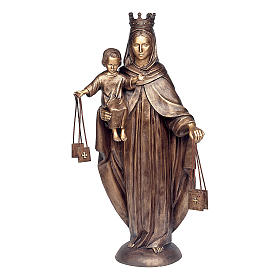 Statue of Our Lady of Carmel in bronze 110 cm for EXTERNAL USE s1
