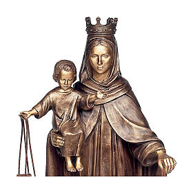 Statue of Our Lady of Carmel in bronze 110 cm for EXTERNAL USE s2