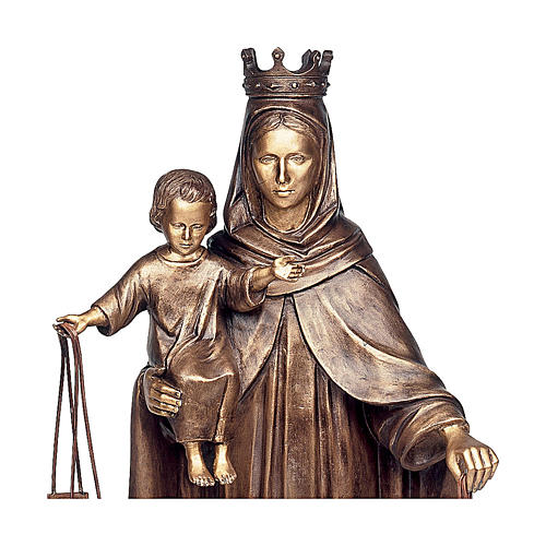Statue of Our Lady of Carmel in bronze 110 cm for EXTERNAL USE 2