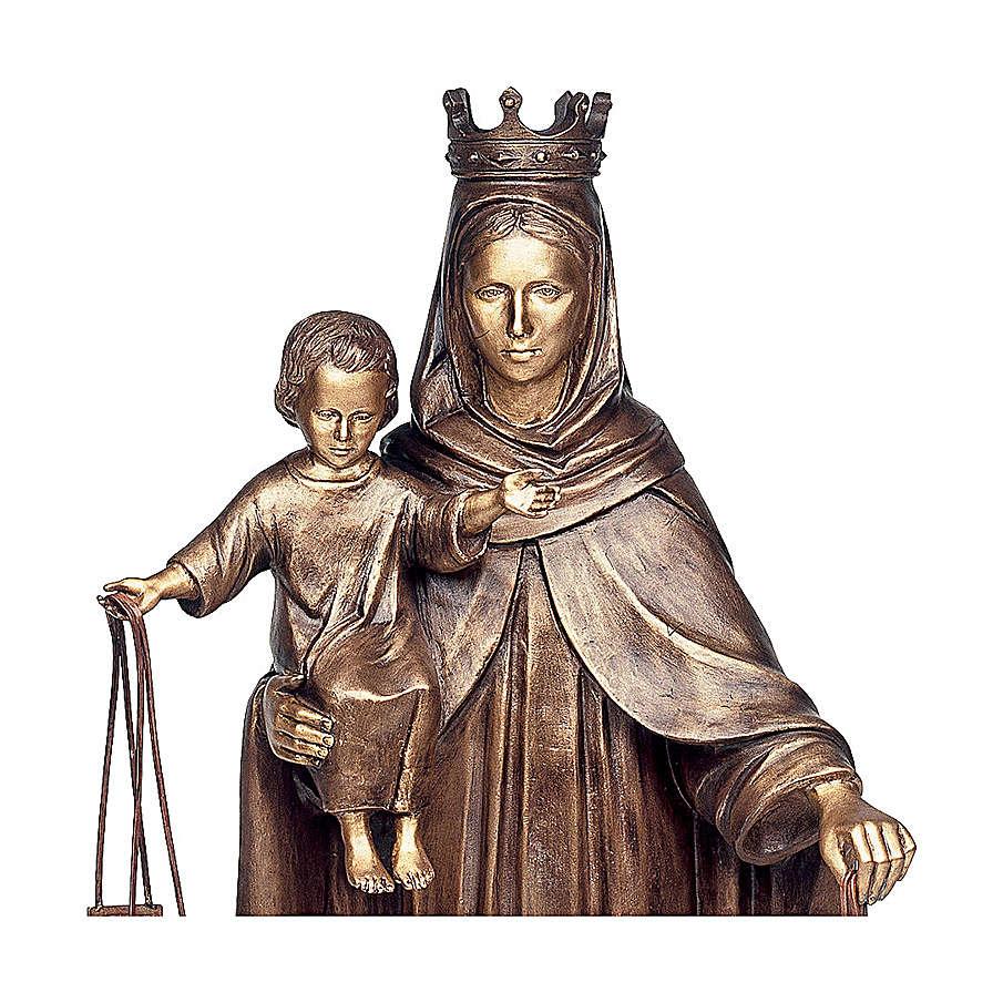 Statua Madonna del Carmelo bronzo 110 cm per ESTERNO 4