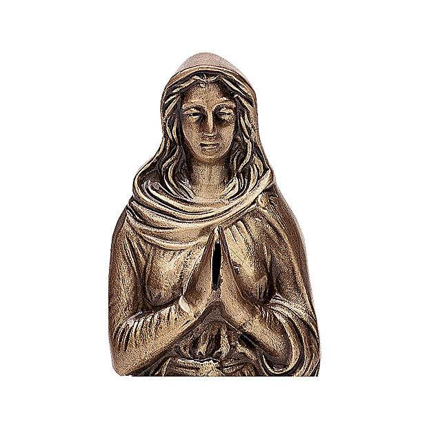 Statue Marie en prière bronze 30 cm POUR EXTÉRIEUR 4