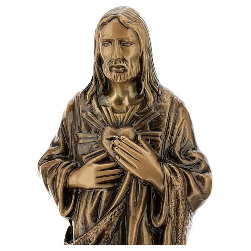 Estatua bronce Jesús Sagrado Corazón 40 cm para EXTERIOR 2