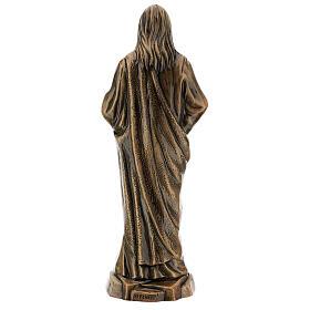Statua bronzo Gesù Sacro Cuore 40 cm per ESTERNO s5