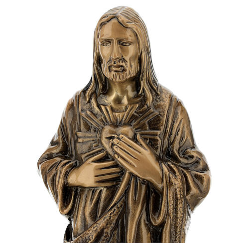 Statua bronzo Gesù Sacro Cuore 40 cm per ESTERNO 2