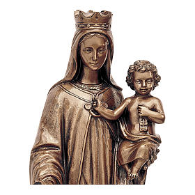 Statue of Our Lady of Mount Carmel in bronze 80 cm for EXTERNAL USE s2