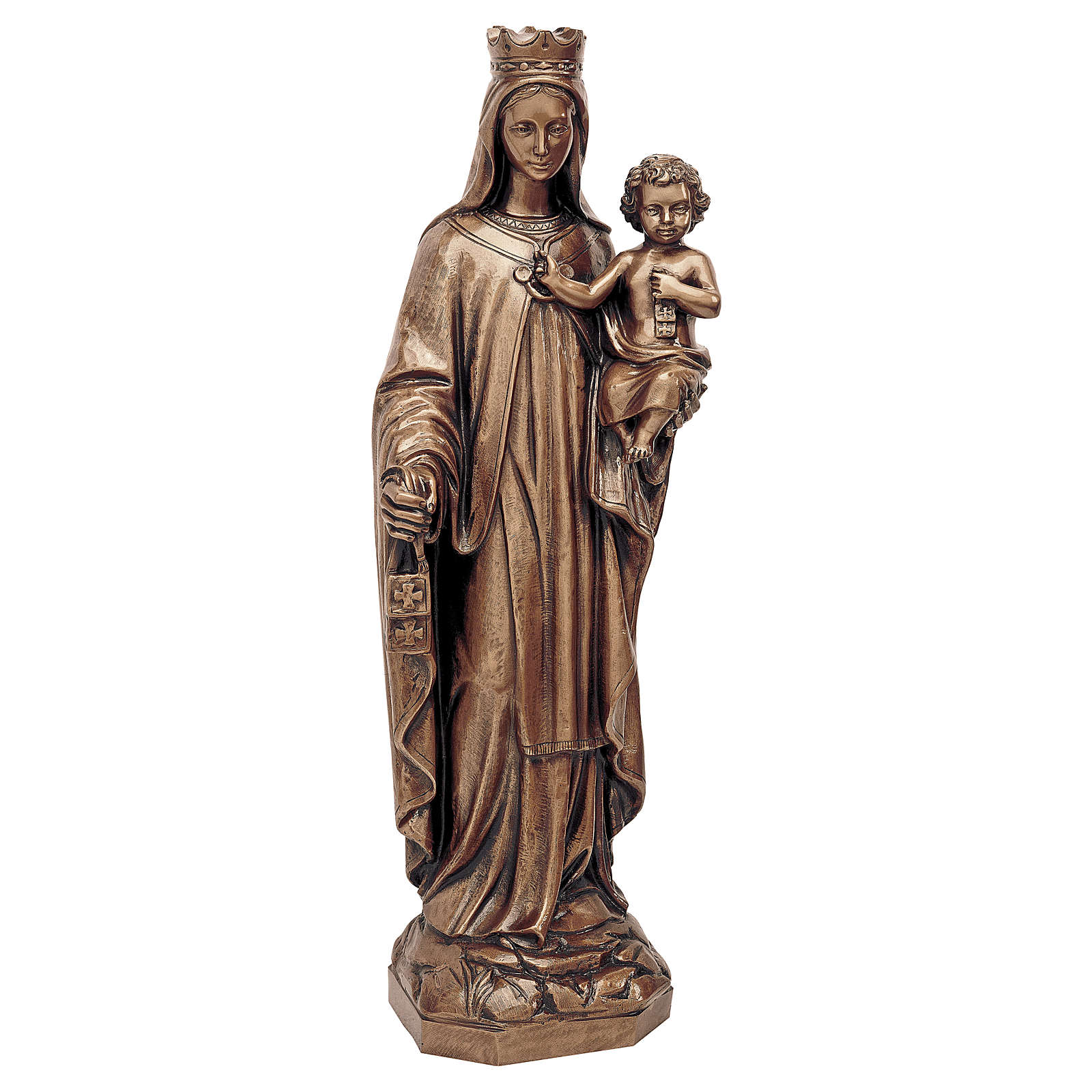 Statua Madonna del Carmine bronzo 80 cm per ESTERNO 4