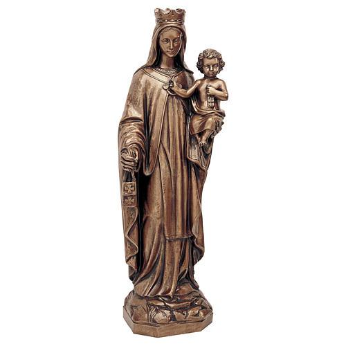 Statua Madonna del Carmine bronzo 80 cm per ESTERNO 1