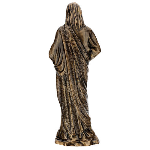 Estatua devocional Sagrado Corazón de Jesús bronce 60 cm para EXTERIOR 7