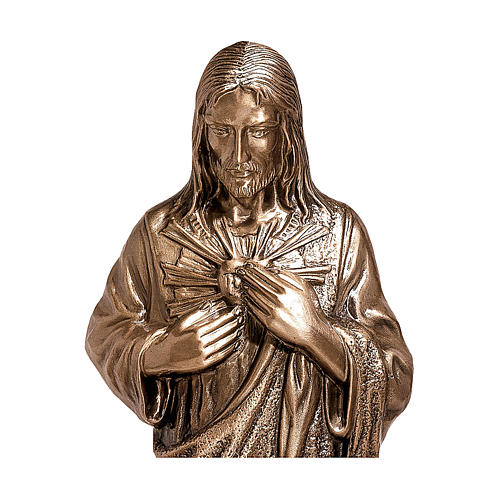 Bronze Statue of Divine Heart of Jesus 80 cm for OUTDOORS 2