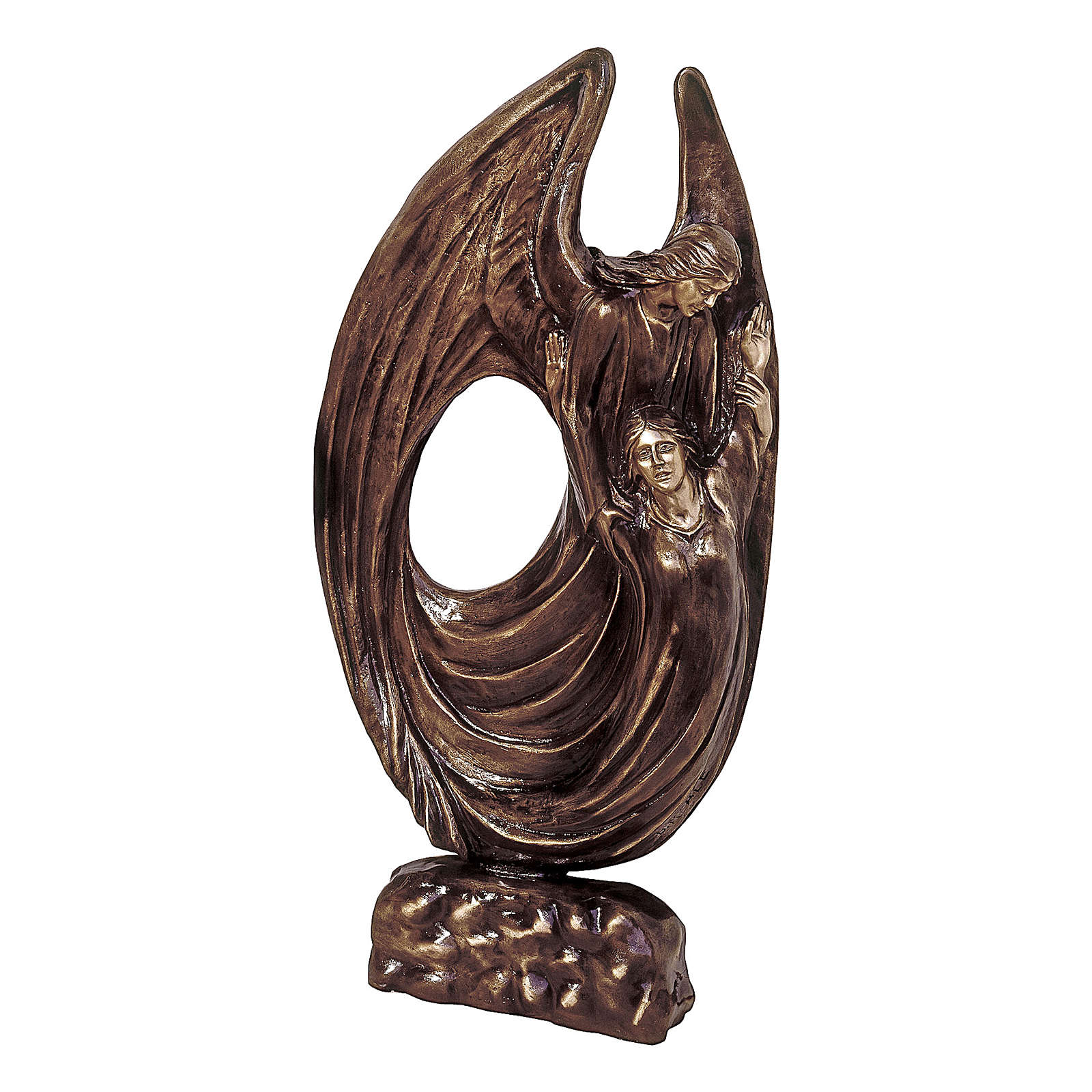 Statua bronzo Angelo Custode 115 cm per ESTERNO 4