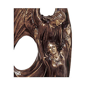 115 cm Guardian Angel Bronze Statue for OUTDOORS s2