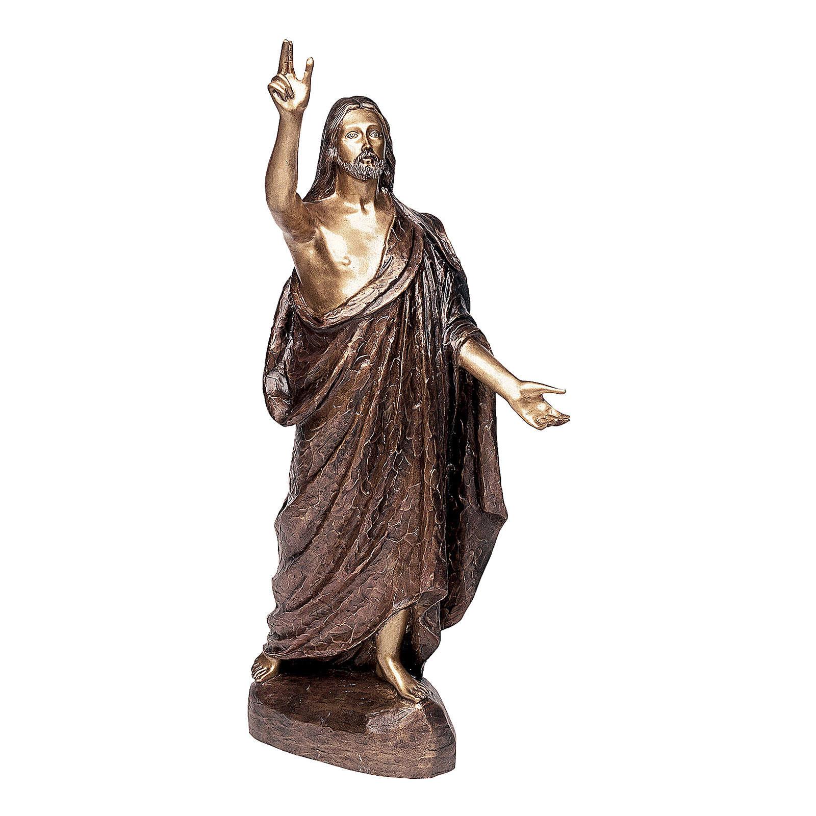 Statua Cristo Benedicente bronzo 110 cm per ESTERNO 4