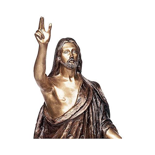 Statua Cristo Benedicente bronzo 110 cm per ESTERNO 2