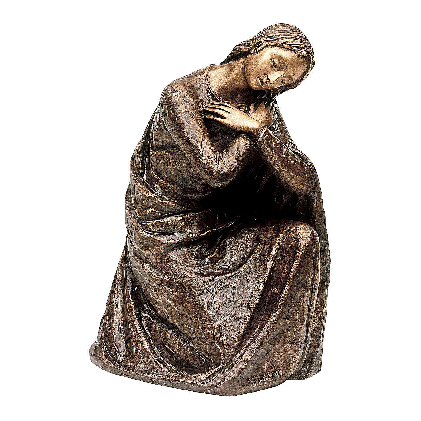 Statua Vergine dell'Annunciazione bronzo 45 cm per ESTERNO 4