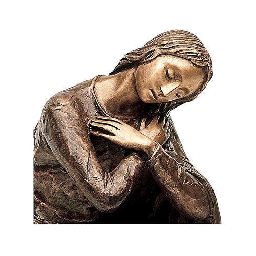 Statua Vergine dell'Annunciazione bronzo 45 cm per ESTERNO 2