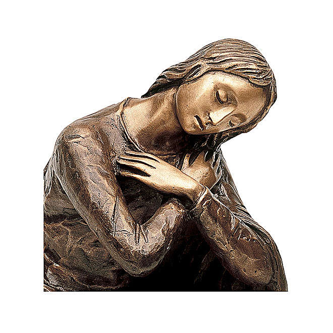 Virgin of the Annunciation Bronze Statue 45 cm for OUTDOORS 4